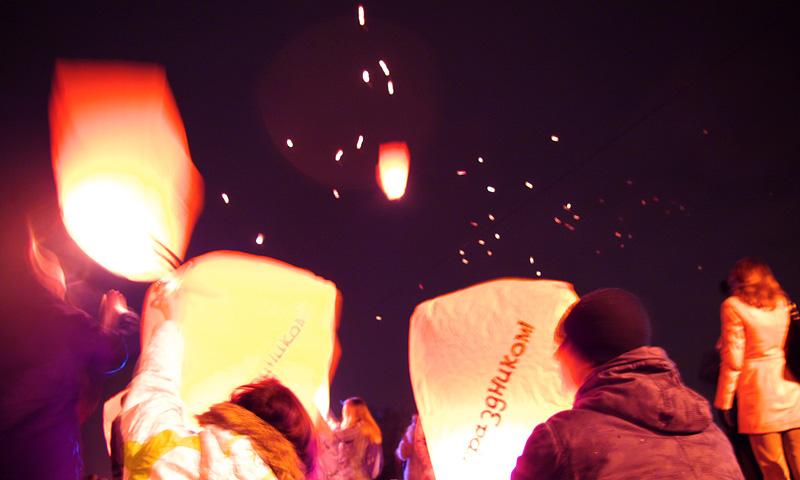 воздушные шарики в Гидропарке