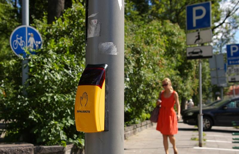 Пешеходный переход в Вильнюсе