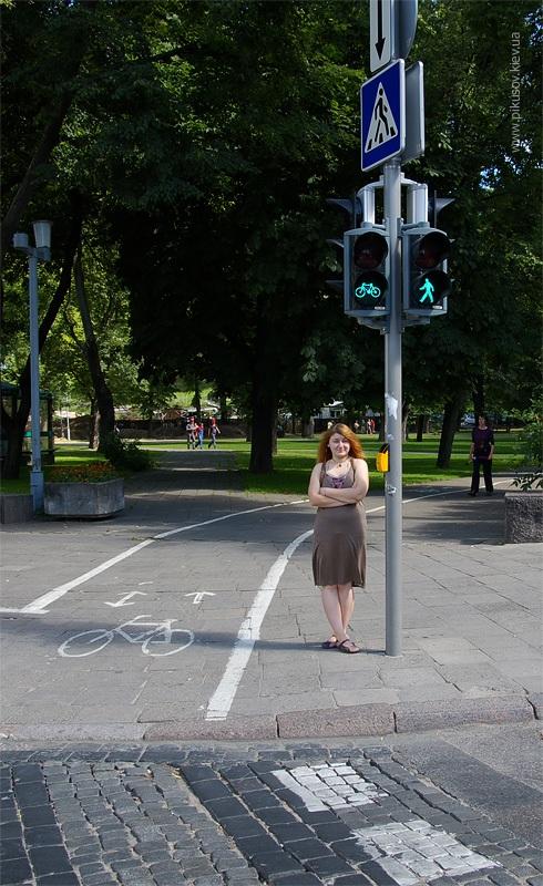 Пешеходно-велосипедный переход в Вильнюсе