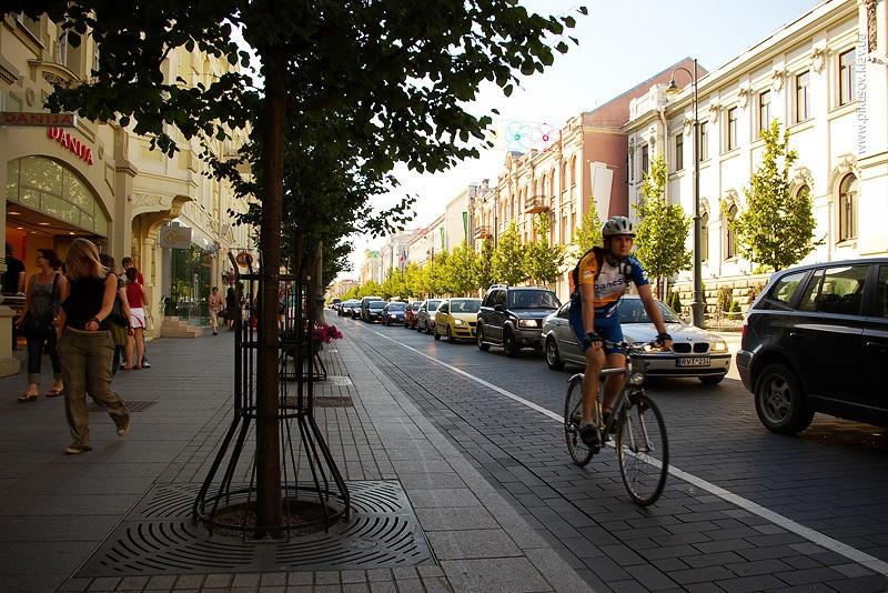 Велосипедная дорожка в Вильнюсе