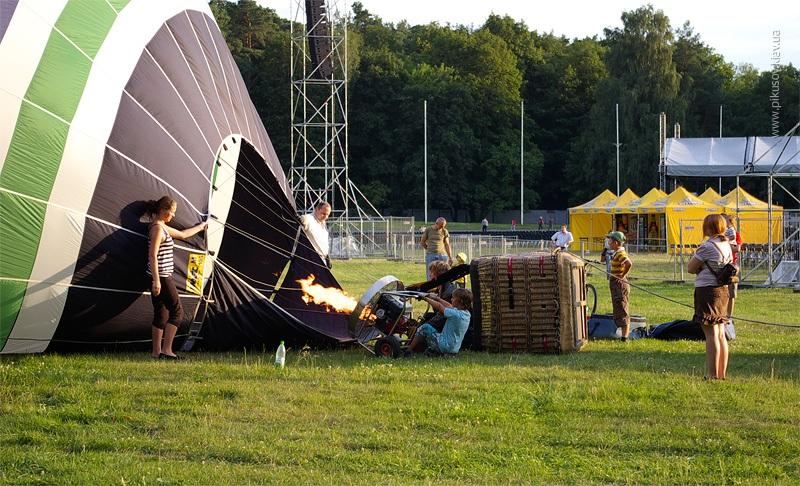 Подготовка воздушного шара
