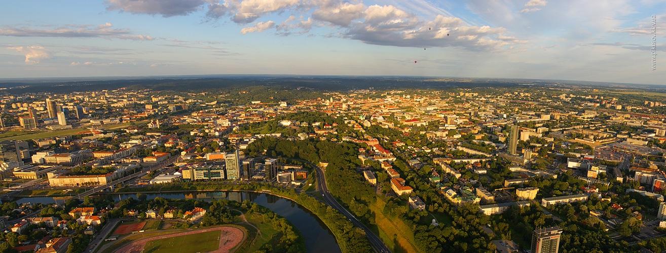 Воздушный шар в Вильнюсе